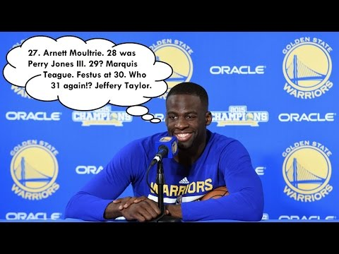 Draymond Green Names All 34 Players Drafted Before Him In The 2012 NBA Draft