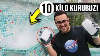 HAVUZA 10 KİLO KURU BUZ ATTIK! (TÜRKİYEDE İLK) Video