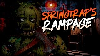 SPRINGTRAP'S RAMPAGE - Five Nights at Freddy's Fan Made | iTownGamePlay