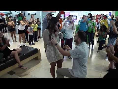 Dadeland Mall Flashmob Proposal Miami