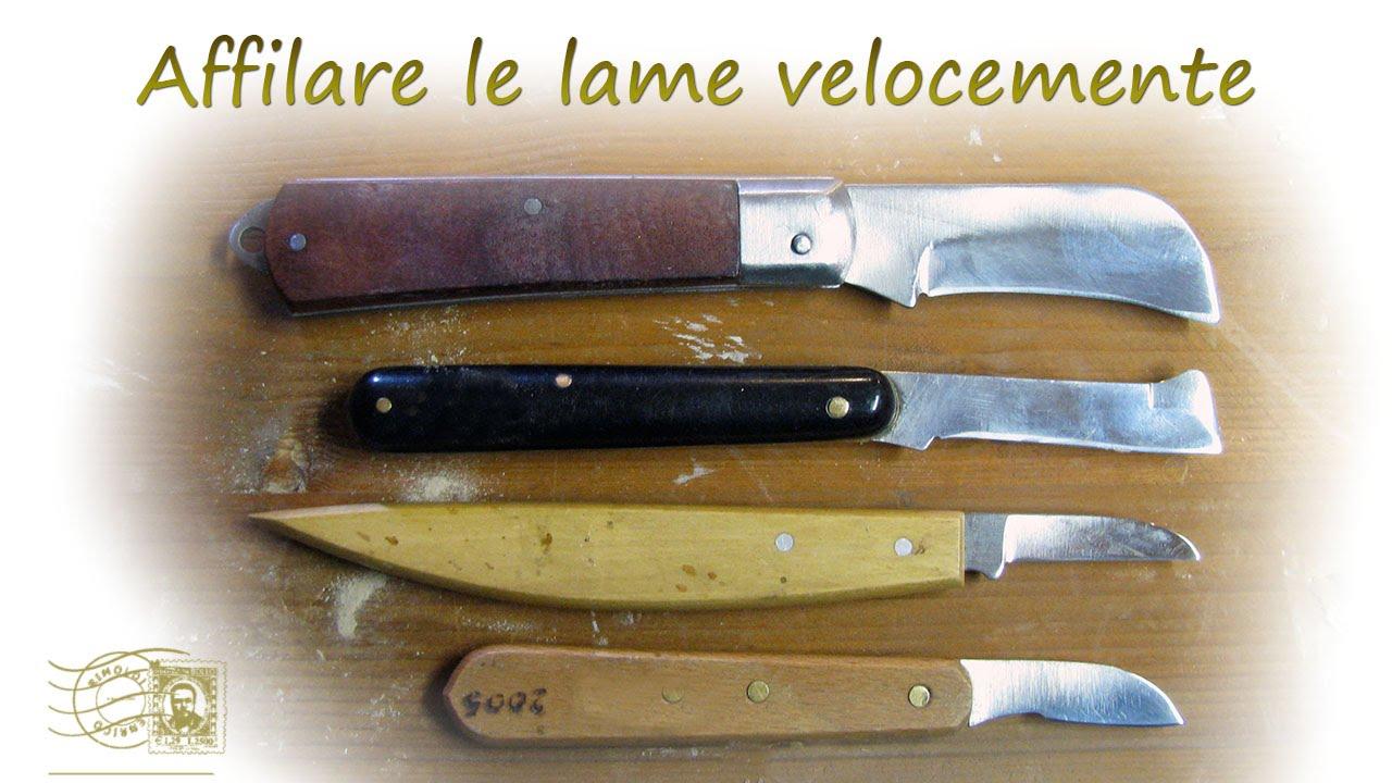 limare coltelli  Affilare coltelli da intaglio - YouTube