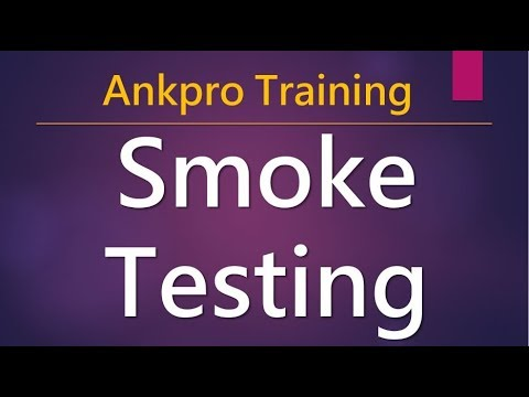 Manual Testing 14 - What Is Smoke Testing? What Is Sanity Testing? What's Build Verification Testing