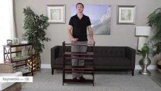 3-tier Stackable Folding Bookcase - Product Review Video