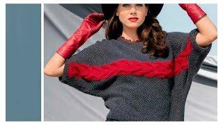 Пуловер Кимоно Спицами - 2019 / Pullover Kimono Knitting