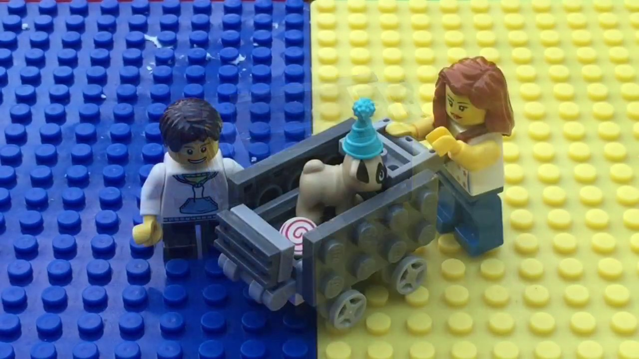 How To Build A Lego Shopping Cart Youtube