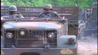 In the US army equipment pass through an ERP (Engineer Regulating Point) and adva...HD Stock Footage