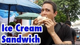 Thai Ice Cream Sandwich (in A Bun) ไอติมขนมปัง
