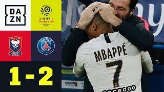 Paris feiert Kylian Mbappe: Caen - Paris Saint-Germain 1:2 | Ligue 1 | DAZN Highlights