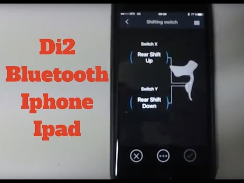 ec3fb097a3e Dura Ace 9150; How to Connect your Di2 Bike to an Iphone by Bluetooth with  EW-WU101 and 111