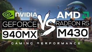 NVIDIA Geforce 940MX VS AMD Radeon R5 M430 2018! - Gaming Performance!