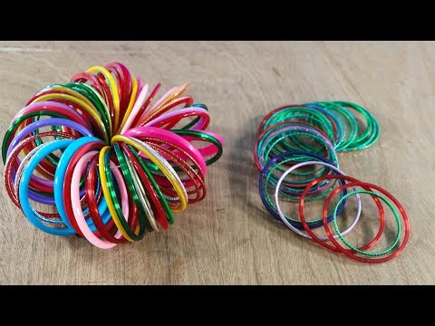Best Out Of Waste Bangles ! Old Bangles Recycling Idea ! Bangles Craft at Home !