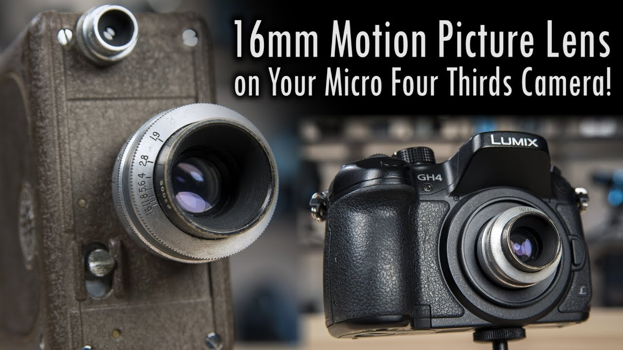 Mount a 16mm Motion Picture Lens on Your Micro Four Thirds Camera: C-mount  to MFT Lens Adapter