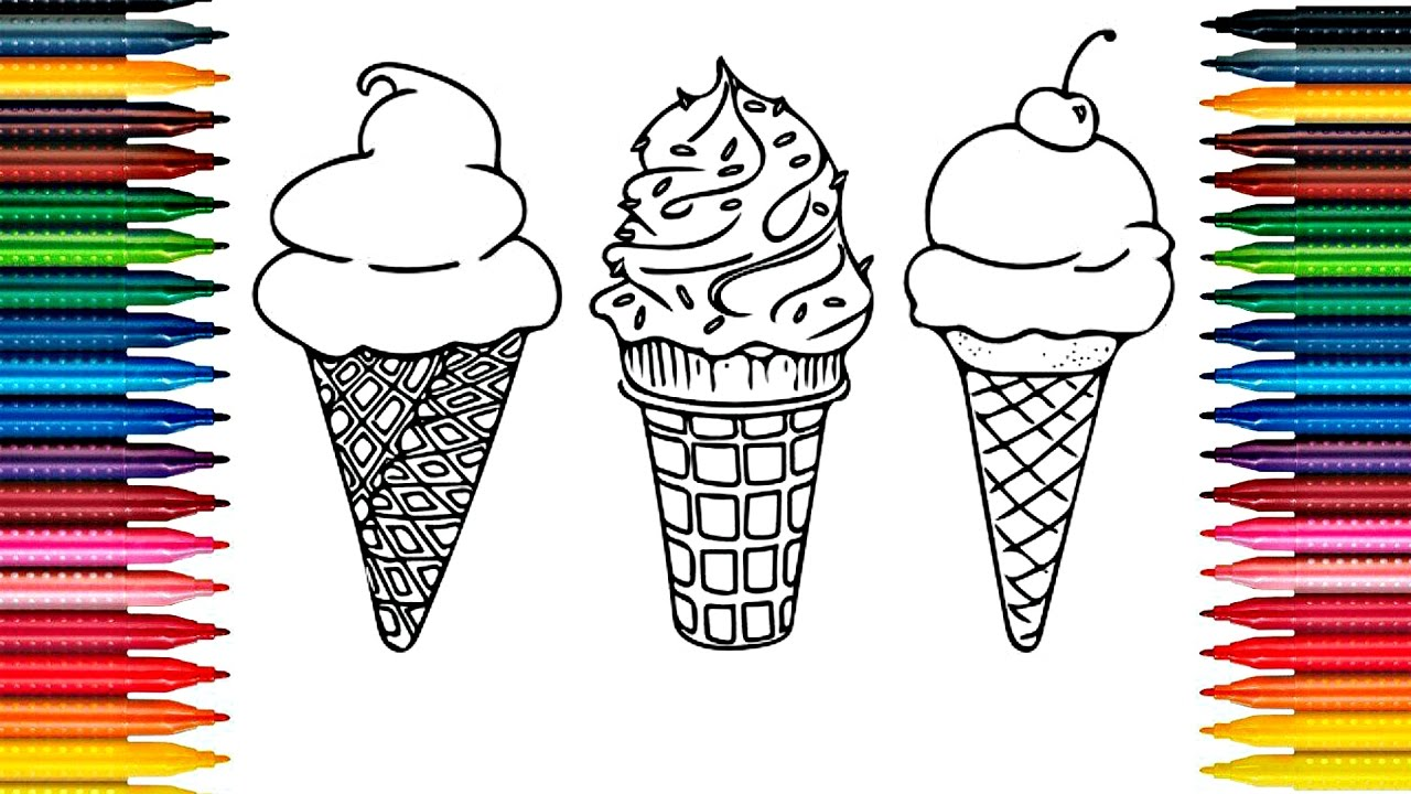 drawing ice cream learn how to draw ice cream colors picture