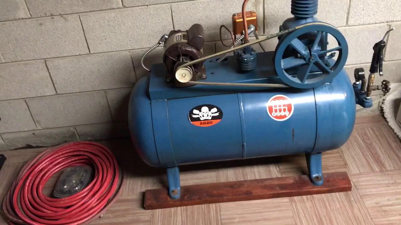 1950 deVilbiss Air Compressor Revisited 2017 - YouTube
