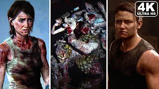 THE LAST OF US 2 All Bosses/Boss Fights + Ending 4K PS4 PRO