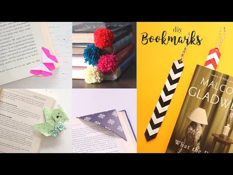 6 Easy DIY Bookmarks | Bookmarks with Paper | Paper Craft