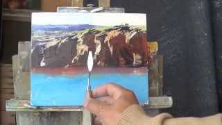 Daniel Gibbings-Johns Paints the cliffs of Glen Davis