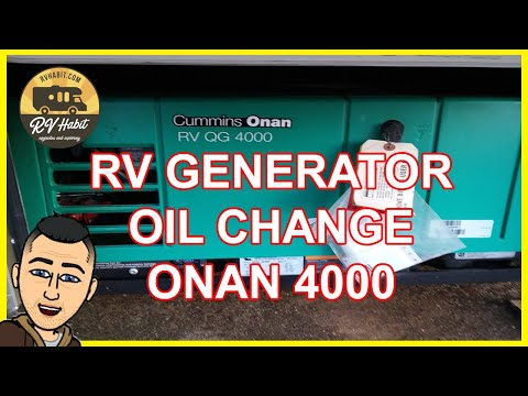 Oil Change In A Cummins Onan RV QG 4000 Generator