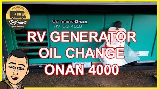 Oil change in a Cummins Onan RV QG 4000 generator - RV Generator Maintenance