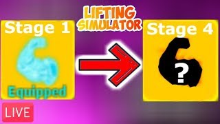 🔴💪🏻STAGE 1 TO STAGE 4!!! 💪🏻(Lifting Simulator RobloX)🔴