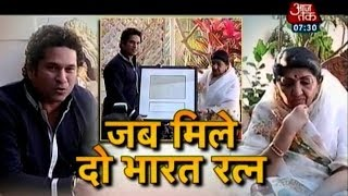 Sachin gets a priceless gift from Lata Mangeshkar