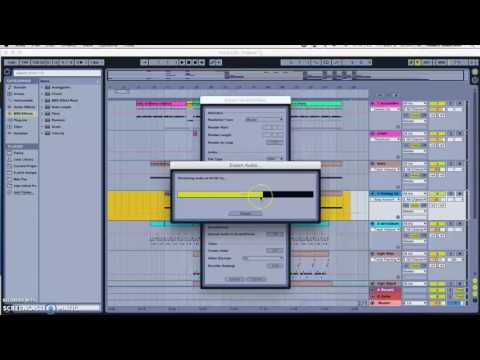 Exporting from Ableton and creating mp3s