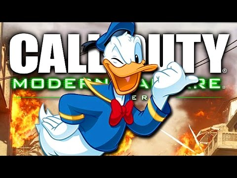 Donald Duck plays Call of Duty!