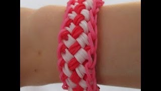 Repeat youtube video Rainbow Loom- How to Make a Chinese Finger Trap Bracelet (Original Pattern)