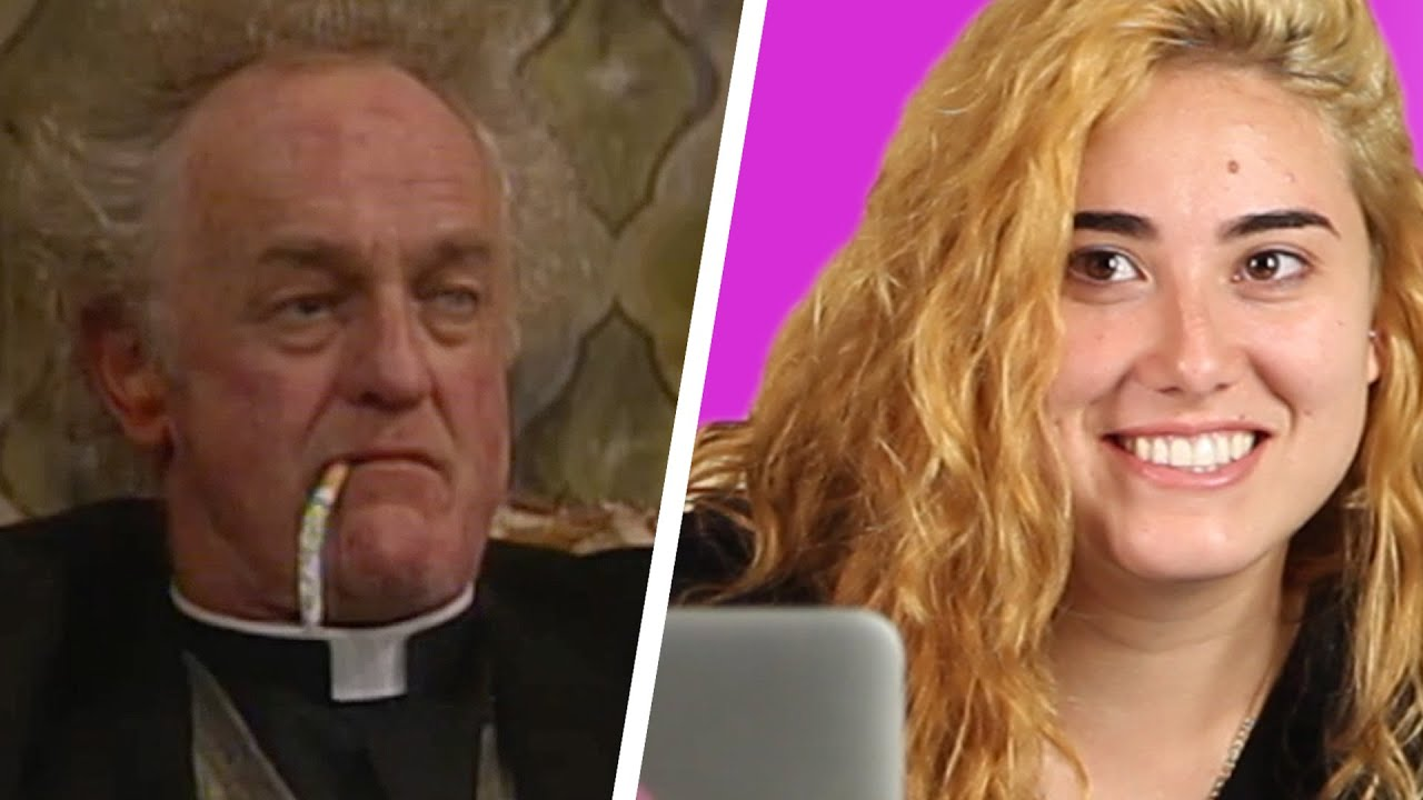 americans watch father ted for the first time youtube