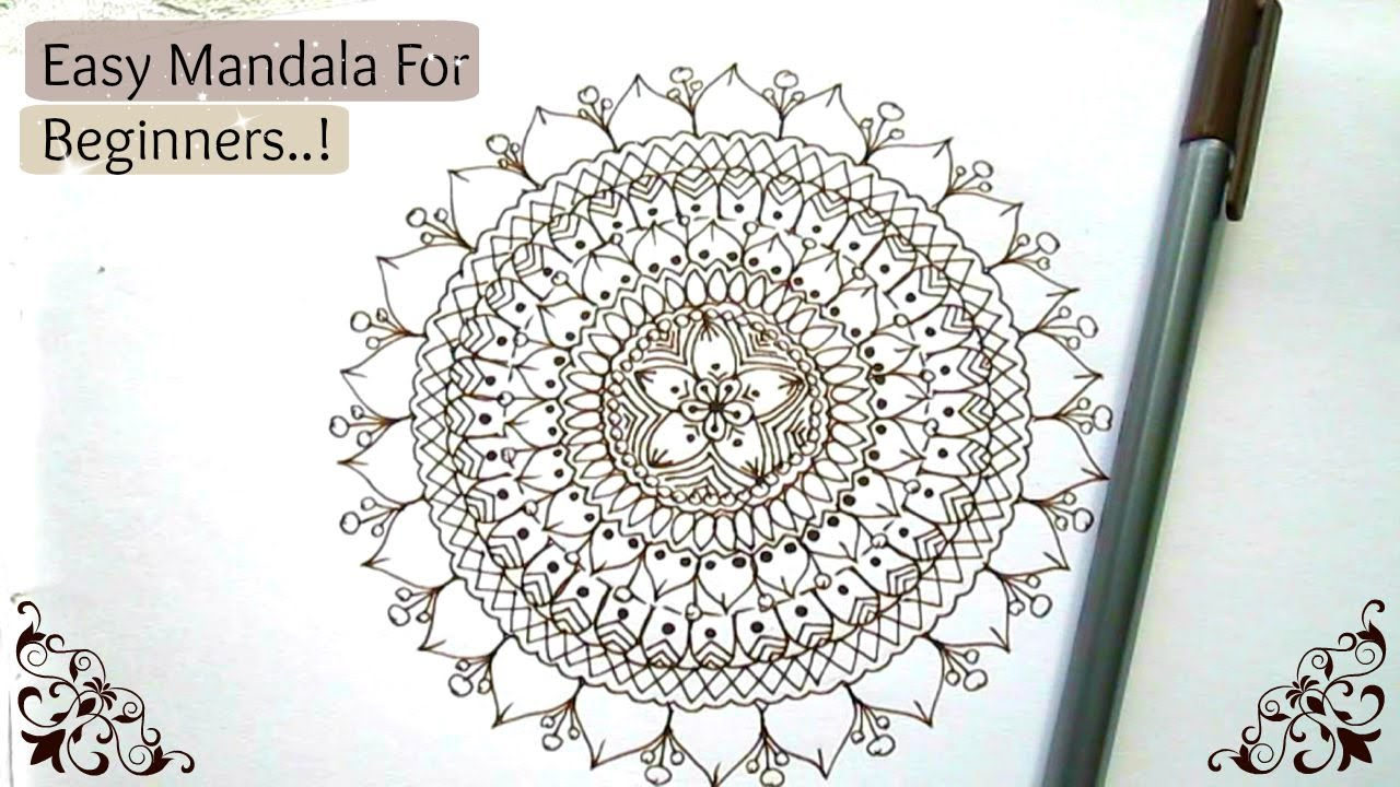 Easy Mandala For Beginners Step By Step Tutorial YouTube