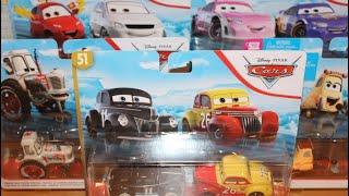 Gambar cover Mattel Disney Cars 2020 2-Pack Case P Unboxing Eli Turnpike, Sweet Tea, Bumper Save Tractor, Melissa
