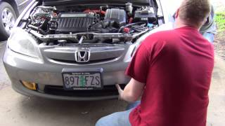 2005 Honda Civic HID and Fog Light Install Part 2