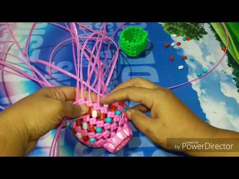 New model flower vase making in plastic wire 1/2