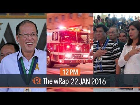Duterte on Revilla, Aquino admin in SWS, US snow storm | 12PM wRap