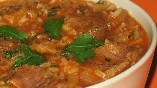 KHARCHO - Georgian Lamb Soup Recipe - RESTAURANT VERSION Суп Харчо / ხარჩო