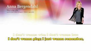 "Anna Bergendahl ""This is my life"" - lyrics - Sing along"
