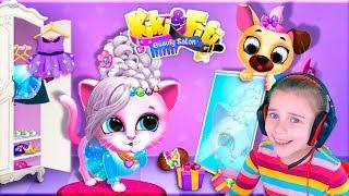 САЛОН КРАСОТЫ ДЛЯ ЖИВОТНЫХ Развлекательное видео для детей Прически и маникюр в детской игре