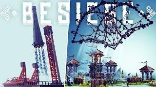 Besiege - Largest Weapon Designs - Castle Net, Rocket Vacuum Drone & More! - Besiege Best Creations
