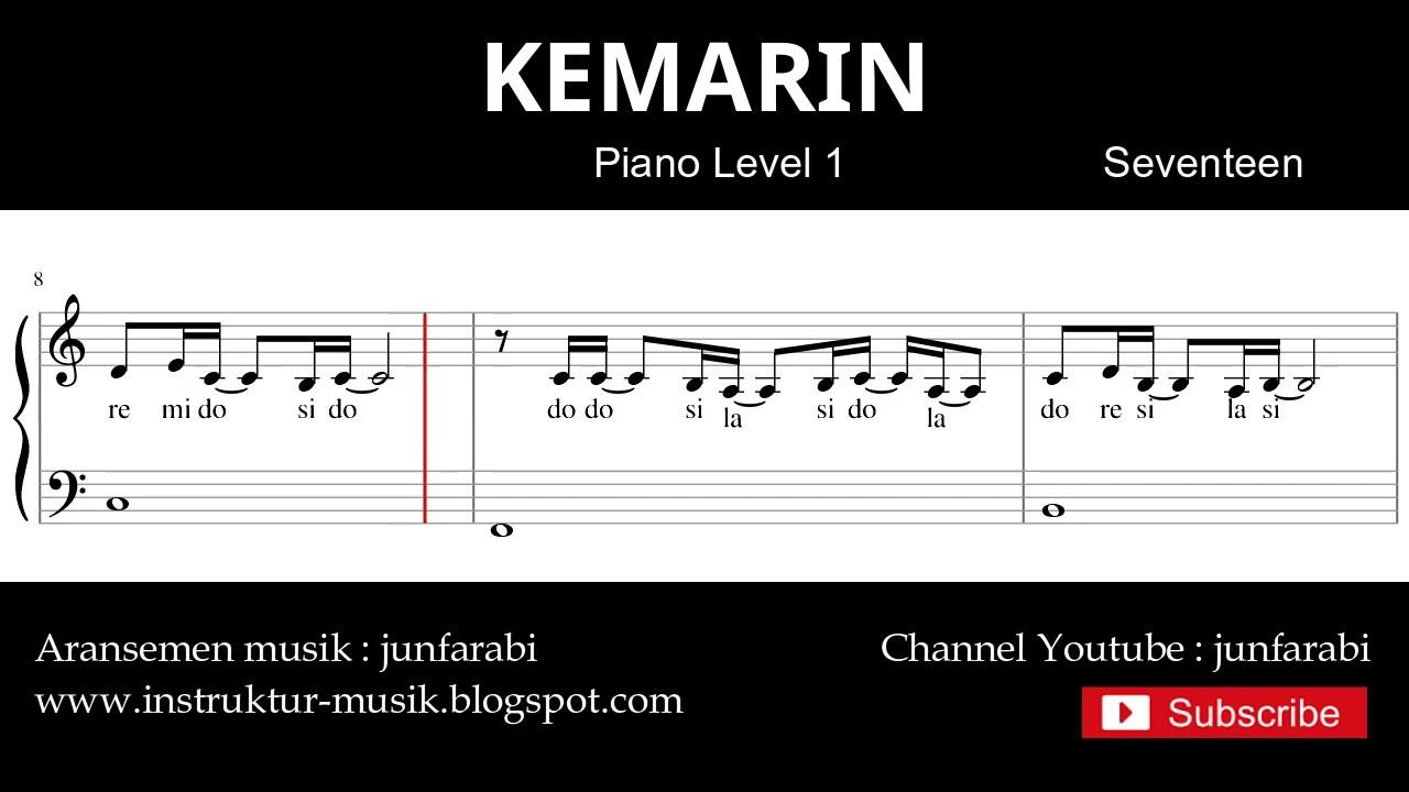 Not Piano Kemarin Seventeen Tutorial Piano Level 3 By Junfarabi