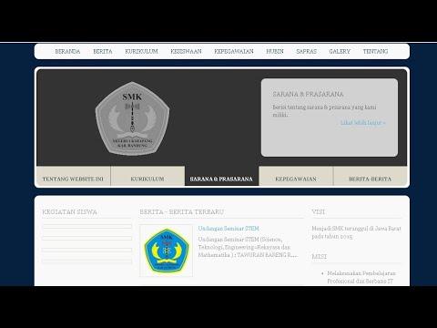 Contoh Website Sekolah Berbasis Php (Native) - Free Source Code
