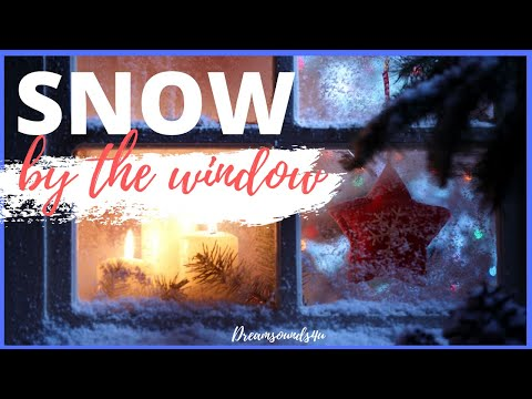 🎧Christmas Ambience Snow By The Window | Relaxing Winter Background Sounds | Heavy Wind & Snow🎧