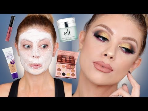 Full Face Of Drugstore First Impressions | Madison Miller