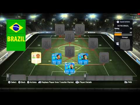 Fifa 15 Ultimate Team Retro Squad Builder Brazil