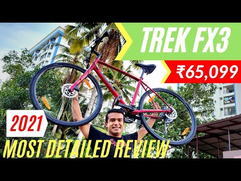 Trek FX 3 2021   Complete Review   Best Performance Hybrid   Premium Cycle for Rs 65000 Acera M3000