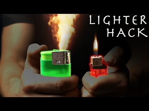 3 Amazing Lighter Hacks - Super Simple, Lots of Fun! (Giant Lighter Hack!!! )