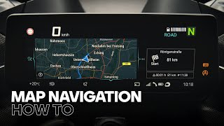How to Use Mąp Navigation with the BMW Motorrad Connected App and TFT Display
