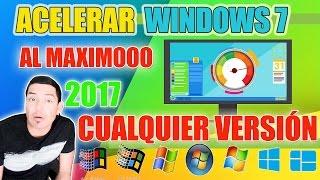 Acelerar Windows 7 al máximo 2017 - Como acelerar mi PC Windows 7