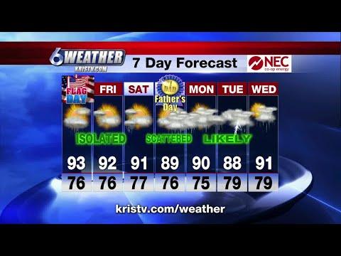 Coastal Bend weather forecast 6/13/18 6PM