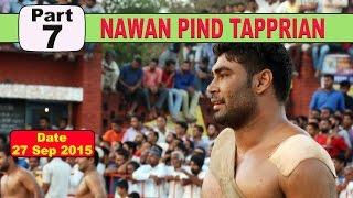 (7) Nawan PInd Tapprian (Nawanshahr) Kabaddi Touranament 27 Sep 2015