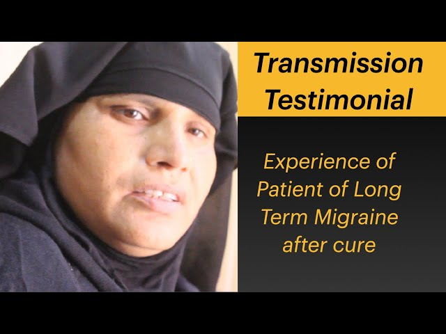 Migraine since years Giving testimonial